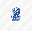 Blue lion logo with crown - photo#3