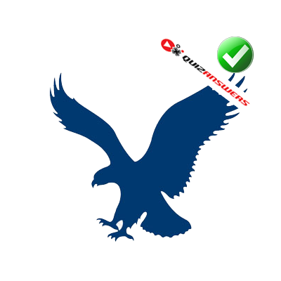 Blue Eagle Logo QuizEagle Head Logo Blue
