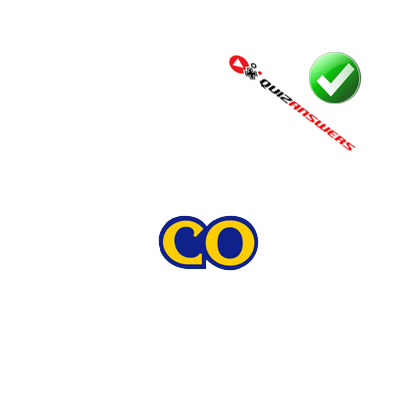 logo quiz yellow c with blue outline