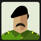 military man dressed in green with black beret