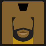 black man with black beard character