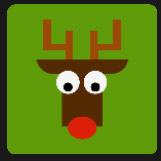 deer character holiday season gift