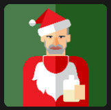 bad drunk santa icon pop