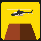 helicopter quiz in yellow square icon pop