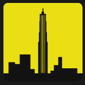 yellow quiz skyscrapers icon