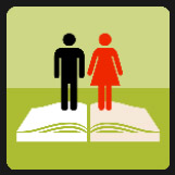 man and woman on top of an book quiz