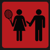woman and man playing tennis