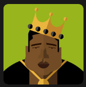 rap singer man black with big crown