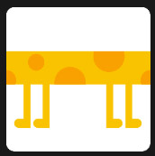 yellow and orange millipede icon
