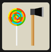 ax and lollipop level 6 icon