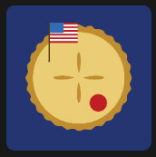 american flag with pie movie