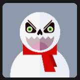 snow man red scarf holiday