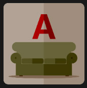 sofa letter A tv and film