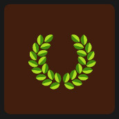quiz icon wreath of leaves