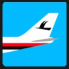 airplane tale with an birds logo