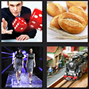 4 pics one movie level 5 answers gamecircus bread, train, dices