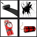4 pics 1 movie level 4 answer dynamite and black paint