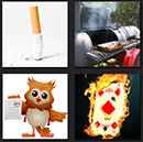 4 pics 1 movie smoking, fire, owl