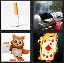 4 pics 1 movie smoking, fire, owl