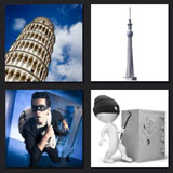 pisa tower, 4 pics 1 movie