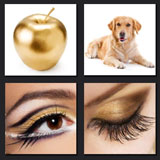 makup, golden apple, dog