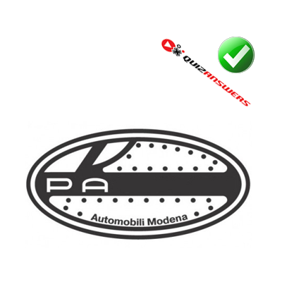 http://www.quizanswers.com/wp-content/uploads/2014/06/black-white-oval-white-letters-pa-logo-quiz-cars.png