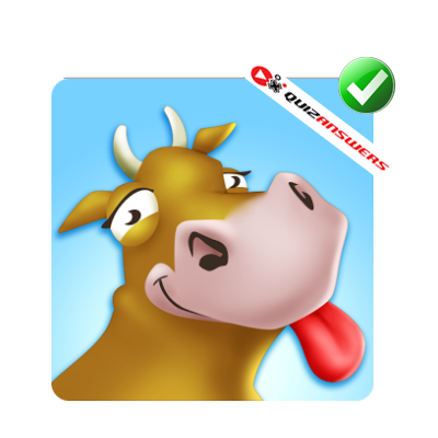http://www.quizanswers.com/wp-content/uploads/2014/09/brown-cow-smiling-red-tongue-logo-quiz-by-bubble.png