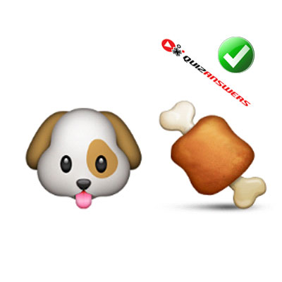 http://www.quizanswers.com/wp-content/uploads/2015/01/dog-face-chicken-leg-guess-the-emoji.jpg
