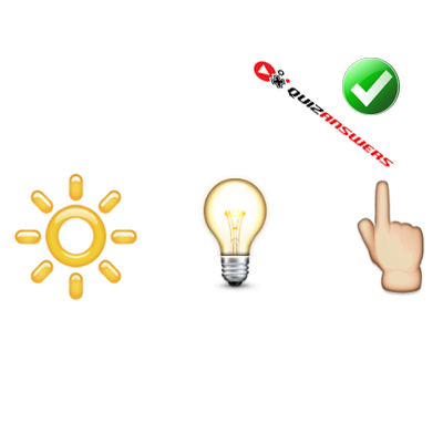 http://www.quizanswers.com/wp-content/uploads/2015/01/sun-lightbulb-finger-guess-the-emoji.png