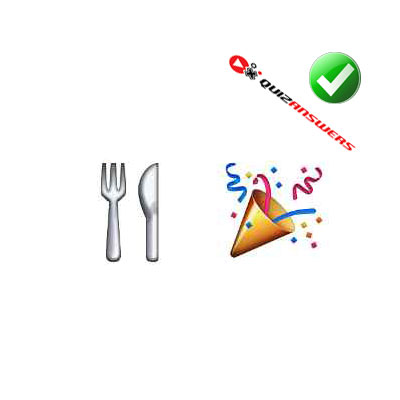 http://www.quizanswers.com/wp-content/uploads/2015/02/cutlery-party-cone-guess-the-emoji.jpg