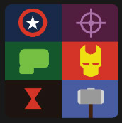 six rectangles movies icons