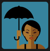 pop star black woman umbrella