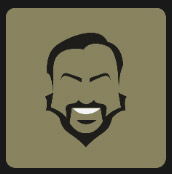 big man with black beard icon pop quiz