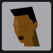 black man with tiny black lips icon