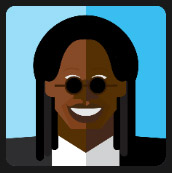 woman with tiny black glasses quiz