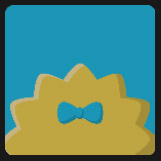 yellow hair with blue bow icon pop