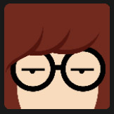 brown hair girl character with glasses