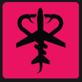 snake and plane icon in pink square quiz