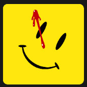 yellow smile with red painted spot