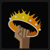 tacking a crown on his hands icon