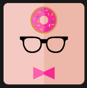 black glasses pink bow donuts quiz