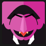 pink face vampire character