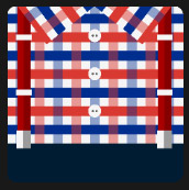 man shirt red and blue quiz