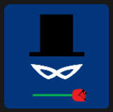 black hat red rose quiz pop icon