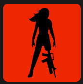 woman with fire arms as foot level 5