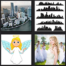 4 pics one movie angel girl, city skyline