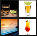 lime, beach sunset, 4 pics 1 movie