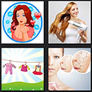 4 pics 1 movie girl drawing, heats, hair dryer, woman skin