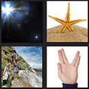 4 pics 1 movie answers - sea star, space, mountain trip