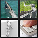 4 pics 1 movie level 6 keyboard esc, wall, china, shark